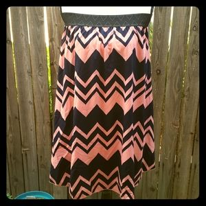 Lularoe Jill Navy and Pink